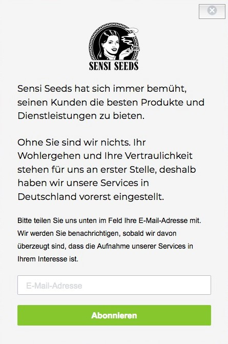 Sensi Seeds Wstrzymuje Wysyłkę Nasion Do Niemiec, Dutch Seeds